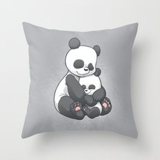 Panda Hug Throw Pillow