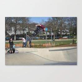 BMX out of the Bowl  Canvas Print