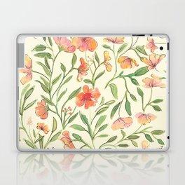 Watercolor Botanical Pattern Laptop & iPad Skin