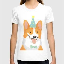 Birthday corgi T-shirt