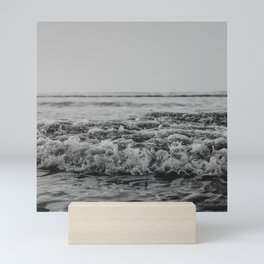 Black and White Pacific Ocean Waves Mini Art Print