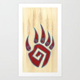 Tribal Bear Paw Art Print