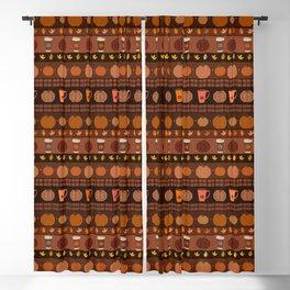 Pumpkin Spice Latte Fair Isle Blackout Curtain