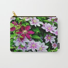 Nelly Moser and Jackmanii Carry-All Pouch
