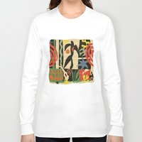 matisse Long Sleeve T-shirts featuring Inspired to Matisse vintage t-shirt by Chicca Besso