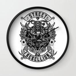 Street Rebellion Wall Clock