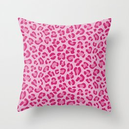 Leopard - Lilac and Pink Throw Pillow