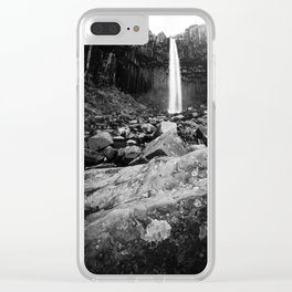Svartifoss Waterfall Iceland Clear iPhone Case