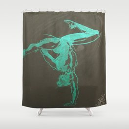 The Green Light Shower Curtain