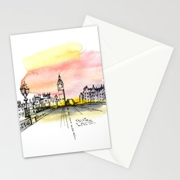 London, Big Ben. Watercolor and ink. Stationery Cards