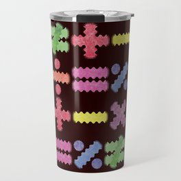 Seamless Colorful Abstract Mathematical Symbols Pattern II Travel Mug