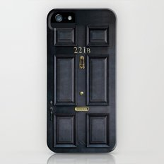 Classic Old sherlock holmes 221b door iPhone 4 4s 5 5c, ipod, ipad, tshirt, mugs and pillow case iPhone (5, 5s) Slim Case