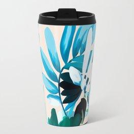 Big leaves blue Travel Mug