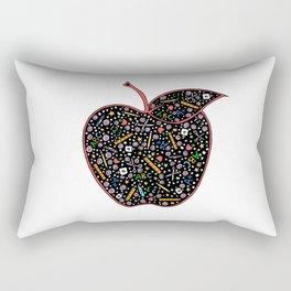 Teacher's Apple colour Rectangular Pillow