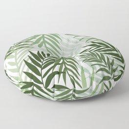 Tropical green leaves Floor Pillow