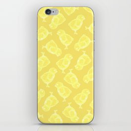 Yellow Easter chicken pattern iPhone Skin