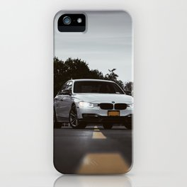 White Sports Car at the High School (2 of 2) iPhone Case