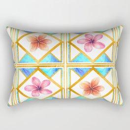 Pretty Geomtric Floral Print Rectangular Pillow