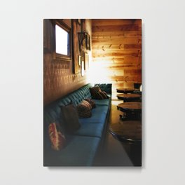 Tillmans Turquoise Couch Metal Print