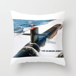 USS ALABAMA (SSBN-731) Throw Pillow