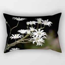 Flannel Flowers Rectangular Pillow