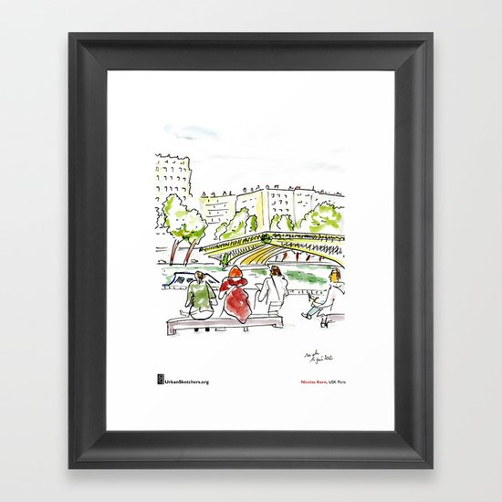 "Nicolas Kern, ""Pont Mirabeau"" Framed Art Print"