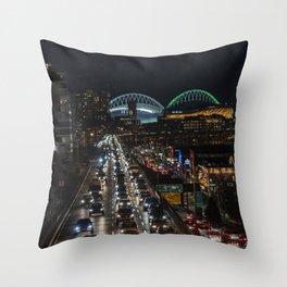 Alaska Way Viaduct Throw Pillow