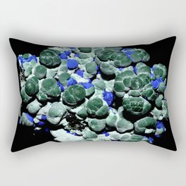 Malachite and Azurite Rectangular Pillow