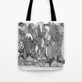 Mysterious Village Tote Bag