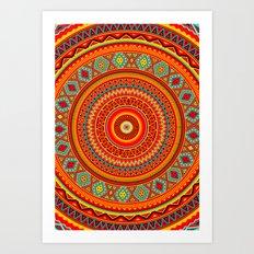 Mandala Aztec Pattern Art Print