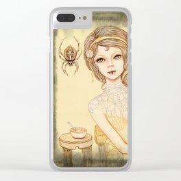 Little Miss Muffett Clear iPhone Case