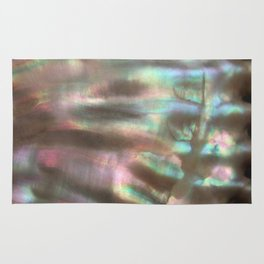 Shimmery Greenish Pink Abalone Mother of Pearl Rug