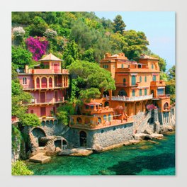 Italy. Portofino Canvas Print