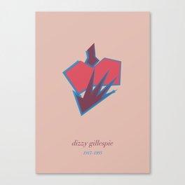 Dizzie Gillespie Canvas Print