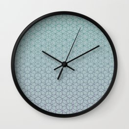 Tessellation - Culture Clash - Polytone Teal / Indigo Wall Clock