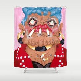 Slot Jockey Sue Shower Curtain