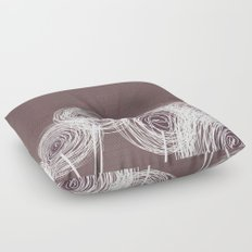 Doodle Flowers in Purple by Friztin Floor Pillow