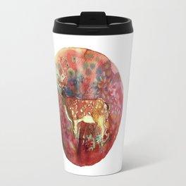 watercolor deer Travel Mug