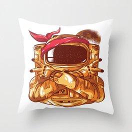 Gangsta Astronaut Throw Pillow