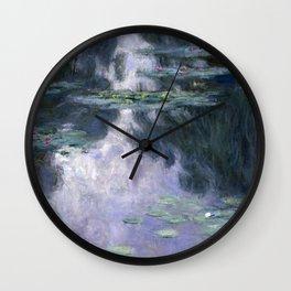 Monet - Water Lilies (Nymphéas), 1907 Wall Clock
