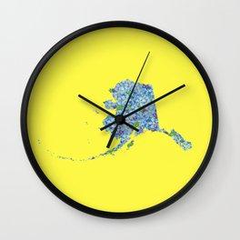 Alaska in Flowers Wall Clock