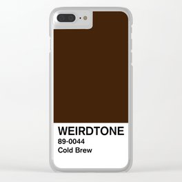 Cold Brew Clear iPhone Case