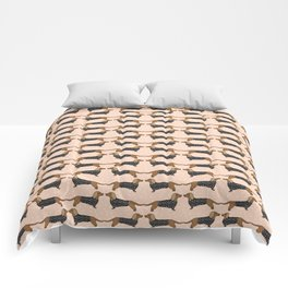 Happy Dachshund Dogs by Andrea Lauren  Comforters