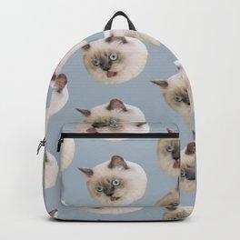 cute animal pattern beige birman cat Backpack