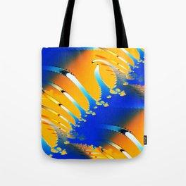 Lava Meets the Sea Fractal Tote Bag