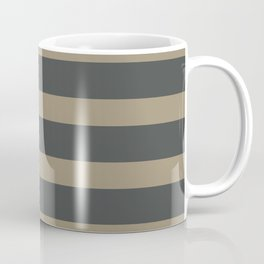 Brown Cafe latte Stripes on Gray Background Coffee Mug