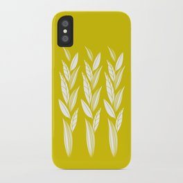 Growing Leaves: Golden Yellow  iPhone Case