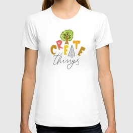 Colorful Creative Trees Pattern - I Create Things T-shirt