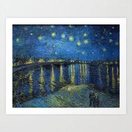 Vincent Van Gogh - Starry Night Over the Rhone Art Print
