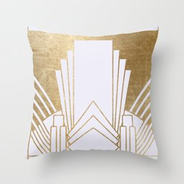 Art Deco design - blonde Throw Pillow
